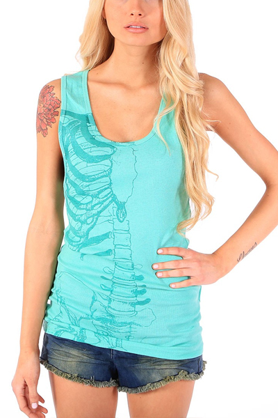IRON FIST CLOTHING Caged Rib Tank Green