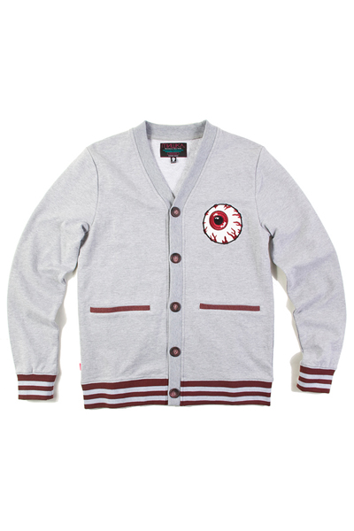 MISHKA (ミシカ) KEEP WATCH CARDIGAN HEATHER GREY