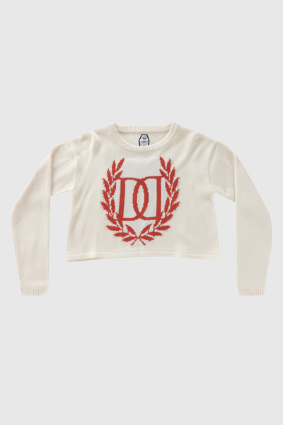 DROP DEAD CLOTHING WREATH CROP TOP JUMPER