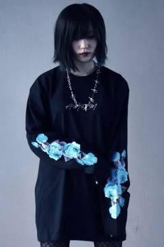 アマツカミ 花 L/S BLACK