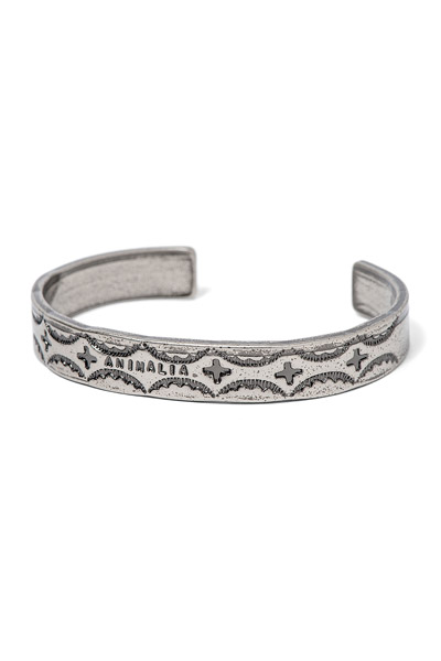 ANIMALIA ANIMAL-AC10  ZINC BANGLE-bull rope SILVER