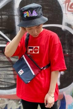 FILA FFM9841 ユニセックス クルーネックシャツ RED