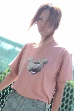 RIP DESIGN WORXX ディスグースマスクTシャツ CORAL