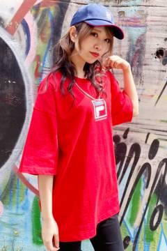 FILA FFM9836 ユニセックス クルーネックシャツ RED