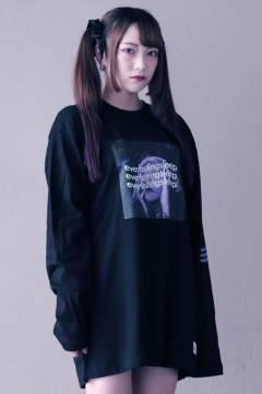 アマツカミ 「永眠」Long T-shirts Purple