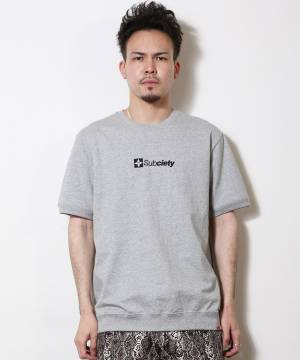 Subciety EMBROIDERY THE BASE TEE GRAY