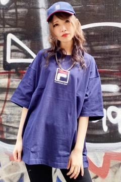 FILA FFM9836 ユニセックス クルーネックシャツ NAVY