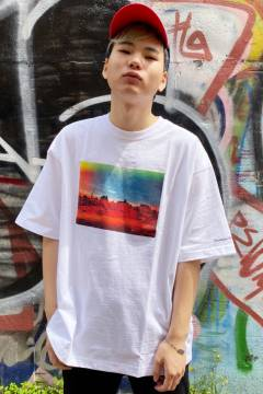 FILA FFM9847 ユニセックス クルーネックシャツ WHITE