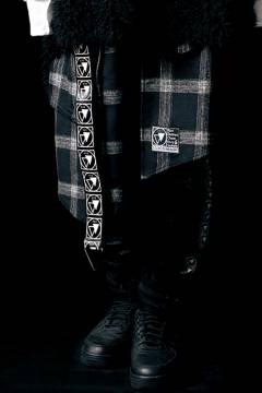 SILLENT FROM ME HARRIET -6pockets Wrap Skirt- BLACK CHECK