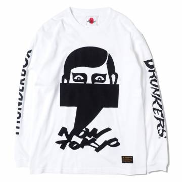 PUNK DRUNKERS [PDSxTHUNDERBOX]NOW TOKYOロンTEE - WHITE