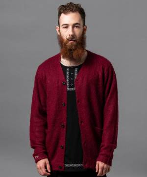 【予約商品】VIRGO KURT MOHAIR CARDIGAN - BURGANDY