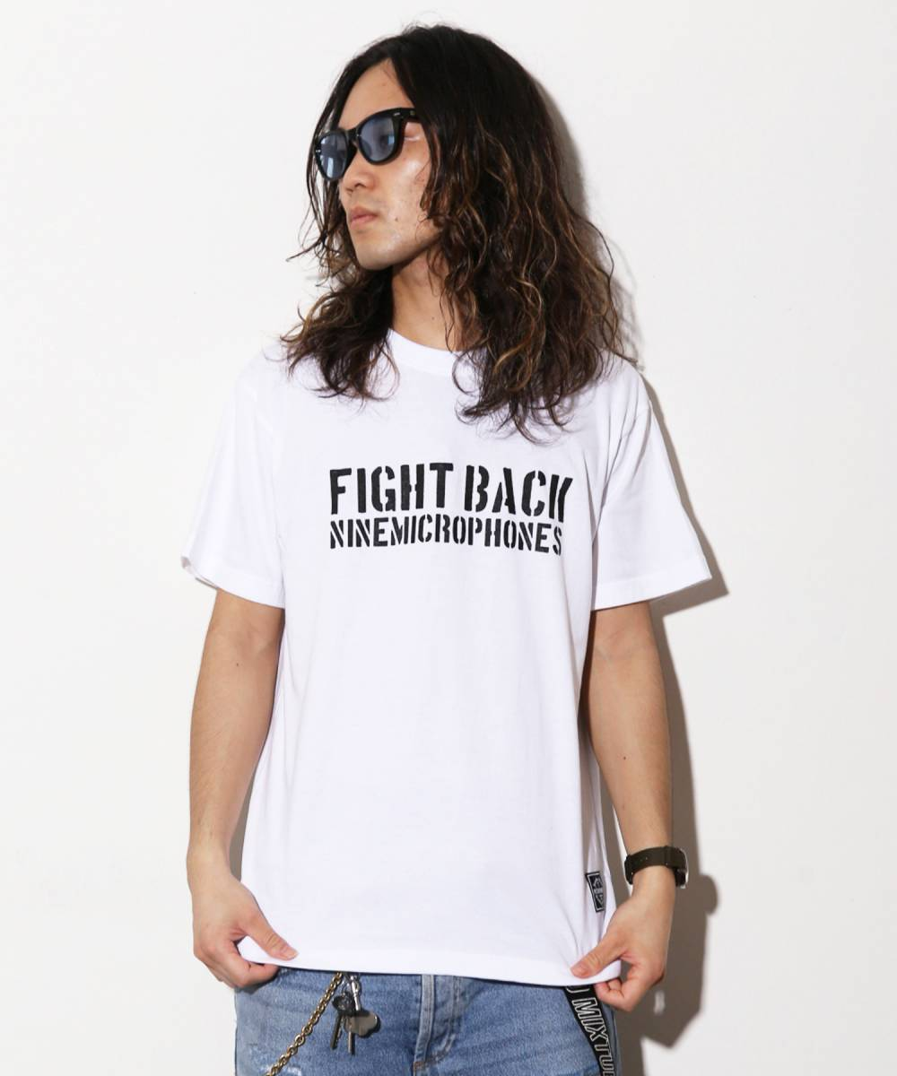 【予約商品】Nine Microphones FIGHT BACK S/S【8月入荷予定】 - WHITE