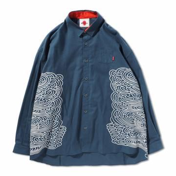 【予約商品】PUNK DRUNKERS 迷いシャツ - NAVY