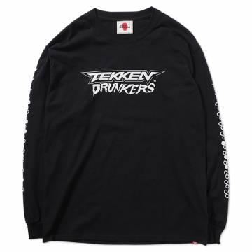 【予約商品】PUNK DRUNKERS [PDSxTEKKEN]鉄拳ドランカーズ ロンTEE - BLACK