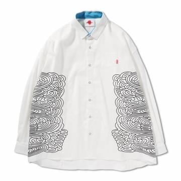 【予約商品】PUNK DRUNKERS 迷いシャツ - WHITE