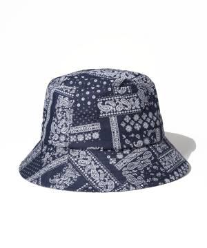 【予約商品】Subciety PAISLEY BUCKET HAT - NAVY