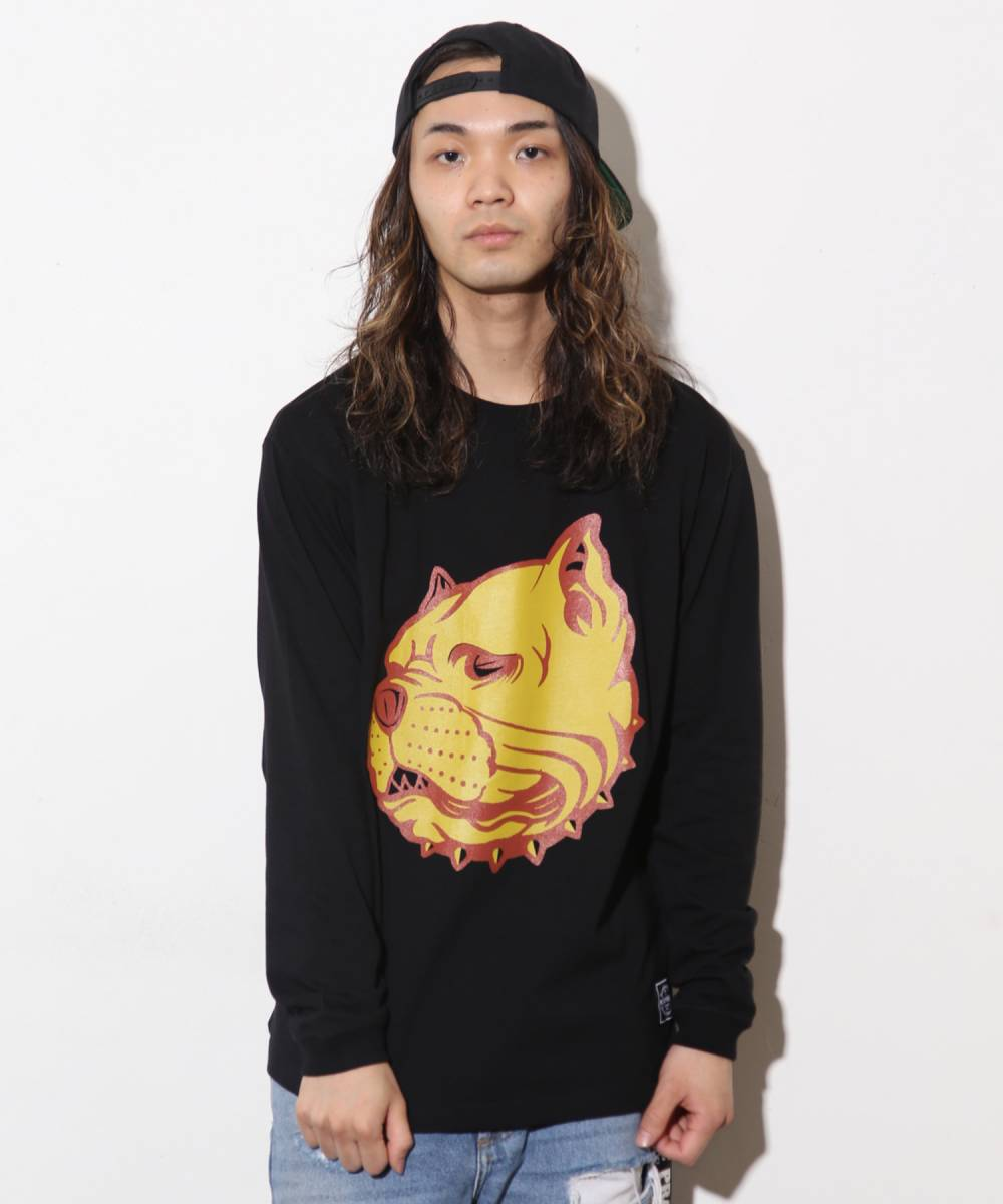 【予約商品】Nine Microphones BULLDOG L/S【9月入荷予定】 - BLACK
