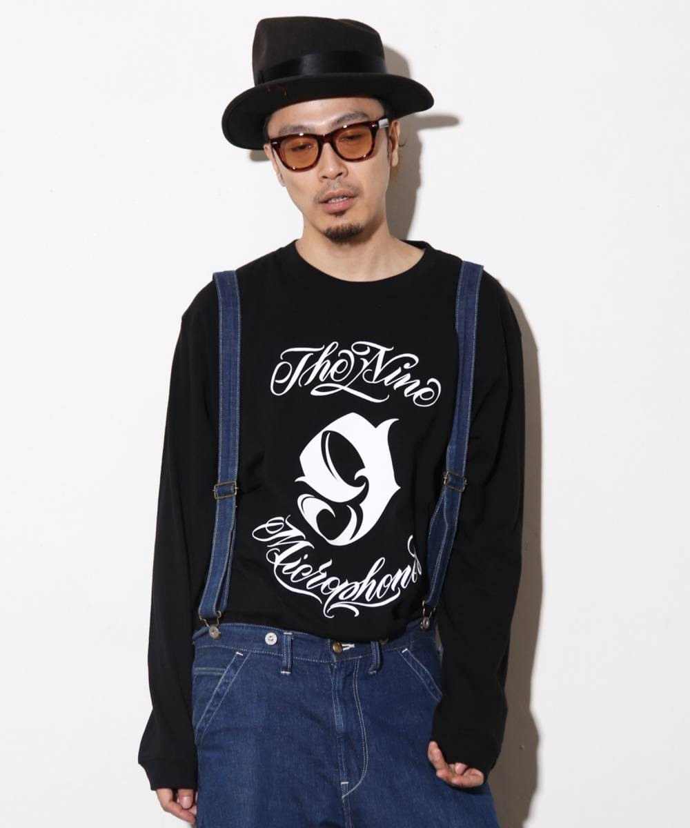 【予約商品】Nine Microphones NEW MC CREW L/S - BLACK