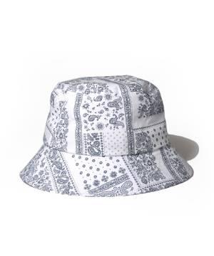【予約商品】Subciety PAISLEY BUCKET HAT - WHITE