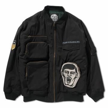 【予約商品】PUNK DRUNKERS ポケットいっぱいMA-1.JKT - BLACK