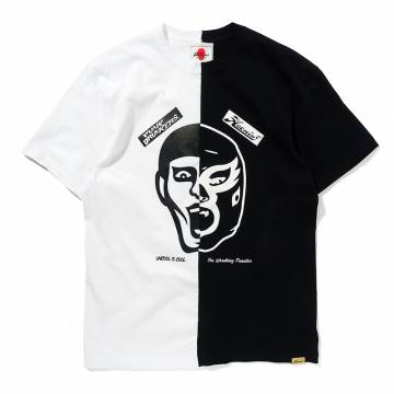 PUNK DRUNKERS [PDSxHAOMING]半分TEE - WHITE