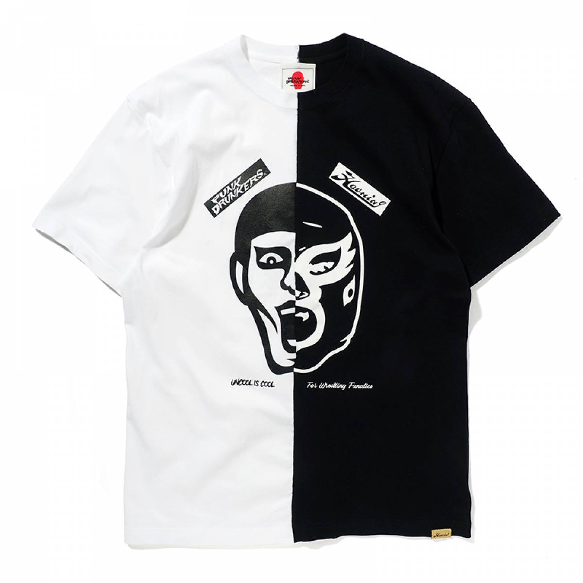 【予約商品】PUNK DRUNKERS [PDSxHAOMING]半分TEE - WHITE