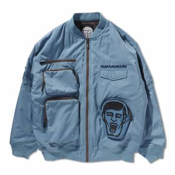 【予約商品】PUNK DRUNKERS ポケットいっぱいMA-1.JKT - S.BLUE