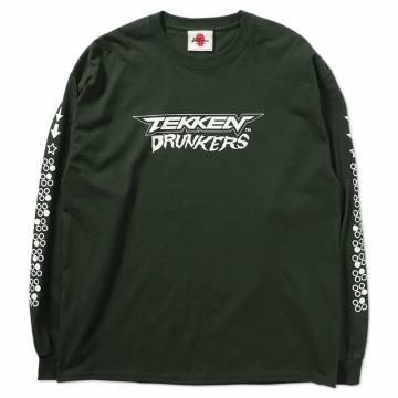 【予約商品】PUNK DRUNKERS [PDSxTEKKEN]鉄拳ドランカーズ ロンTEE - D.GREEN