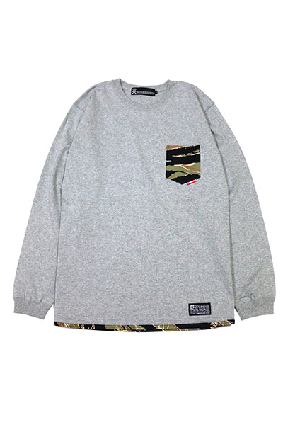 SABBAT13 CAMO POCKET L/S T GRAY
