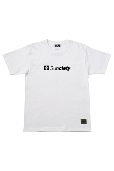 Subciety THE BASE S/S - WHITE/BLACK