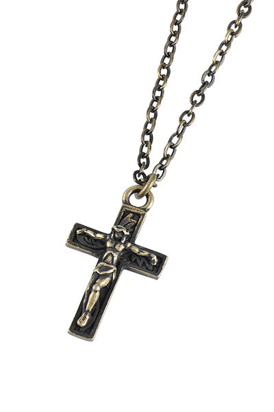 Subciety METAL NECKLACE-JESUS- ANTIQUE GOLD