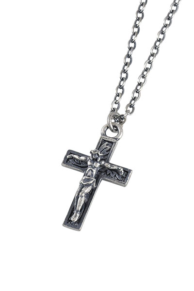 Subciety METAL NECKLACE-JESUS- ANTIQUE SILVER