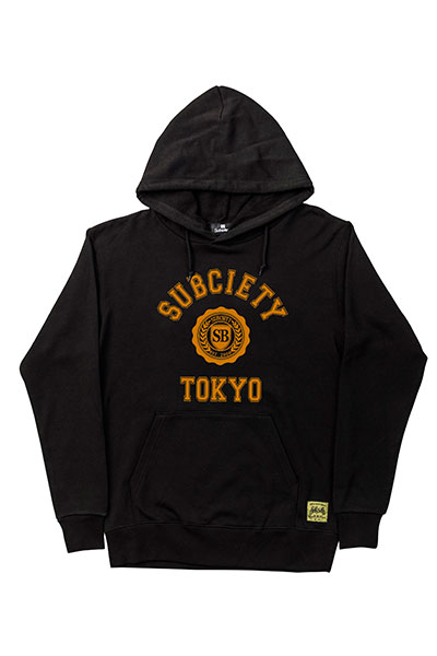 Subciety (サブサエティ) PARKA-COLLEGE- BLACK/ORANGE