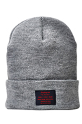 【予約商品】Zephyren(ゼファレン)LONG BEANIE -You Are Here GRAY