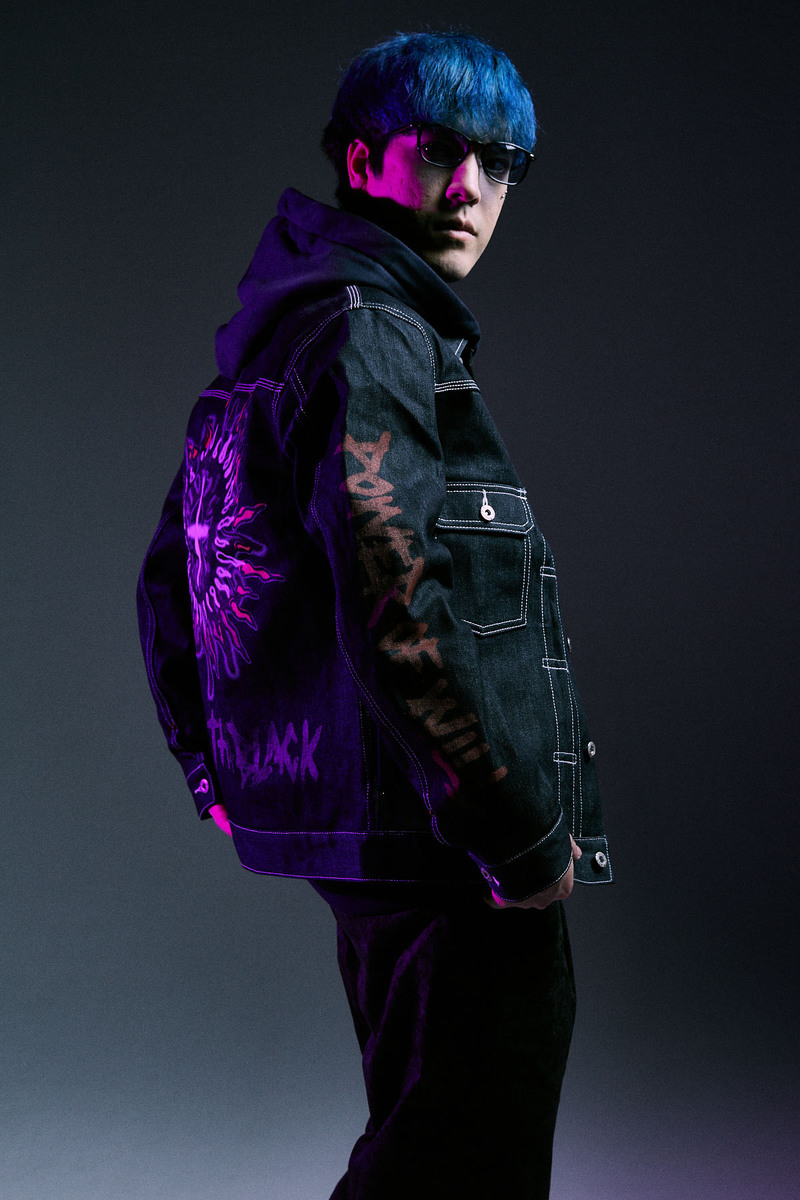 【予約商品】Zephyren(ゼファレン)DENIM JACKET NON WASH / Inhale the black