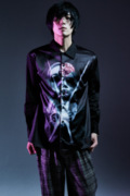 Zephyren(ゼファレン)PHOTO PRINT SHIRT L/S BLACK / variat omnia tempus