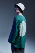 Zephyren(ゼファレン)DOLMAN BIG TEE L/S - Kaleidoscope - GREEN