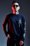 【予約商品】Zephyren(ゼファレン)L/S TEE - As above,So below - NAVY