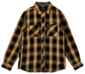 【予約商品】Zephyren(ゼファレン)CHECK SHIRT L/S - Resolve - BLACK / YELLOW